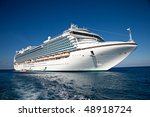 Cruise Ship Anchored In The...
