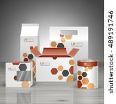 white promotional package... | Shutterstock .eps vector #489191746