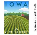 iowa  united states retro... | Shutterstock .eps vector #489196678