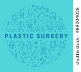 flat infographics plastic... | Shutterstock .eps vector #489204028