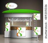 white exhibition stand design... | Shutterstock .eps vector #489205036