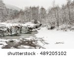 Winter Waterfalls In The...