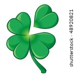 vector green clover leaf | Shutterstock .eps vector #48920821