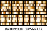 set of metal gradients in... | Shutterstock .eps vector #489223576
