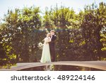 young amazing  people dancing... | Shutterstock . vector #489224146