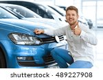 plus one driver on the road ... | Shutterstock . vector #489227908