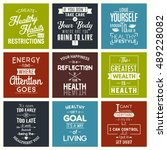 health. typography quotes. | Shutterstock .eps vector #489228082