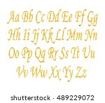 english alphabet  signs and... | Shutterstock .eps vector #489229072