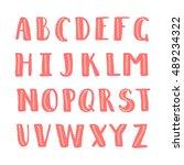 handdrawn vector alphabet with... | Shutterstock .eps vector #489234322