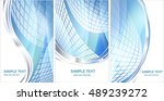 set of blue hi tech backgrounds ... | Shutterstock .eps vector #489239272