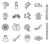 cycle sport icons set. cycling... | Shutterstock .eps vector #489243136
