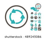 rotate ccw pictograph with... | Shutterstock .eps vector #489245086
