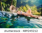 Portrait Of Relaxing Girl With...