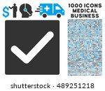 check vector icon with 1000...