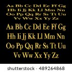 english alphabet  signs and... | Shutterstock .eps vector #489264868
