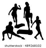 vector illustration of a girl...   Shutterstock .eps vector #489268102