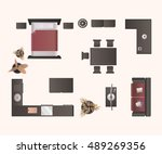 Modern Furniture Top View furniture plan free vector art - (3552 free downloads)