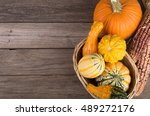 Assortment Of Colorful Gourds...