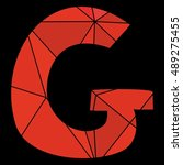 g red alphabet wrapping surface ... | Shutterstock . vector #489275455