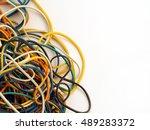 Many Multi Coloured Elastic...
