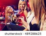 portrait of friends with... | Shutterstock . vector #489288625
