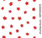 vector seamless pattern of... | Shutterstock .eps vector #489300055