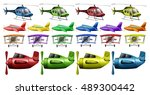 different kinds of helicopter... | Shutterstock .eps vector #489300442