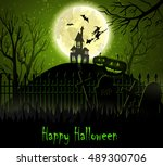 halloween spooky background | Shutterstock .eps vector #489300706