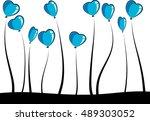 balloons with plants vector...   Shutterstock .eps vector #489303052