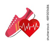 sneaker and heart cardiogram...
