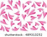 vector heart shapes | Shutterstock .eps vector #489313252