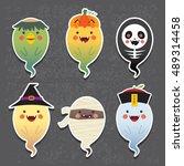 halloween. halloween ghosts...   Shutterstock .eps vector #489314458
