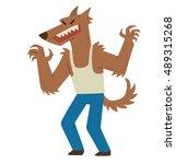 vector cartoon image of funny... | Shutterstock .eps vector #489315268