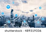 icons of wifi  internet ... | Shutterstock . vector #489319336