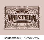 blackboard restaurant menu... | Shutterstock .eps vector #489319942