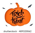 vector paper sheet with clipped ... | Shutterstock .eps vector #489320062