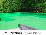 painted roof waterproofing work | Shutterstock . vector #489344188