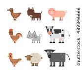 animals vector flat... | Shutterstock .eps vector #489346666