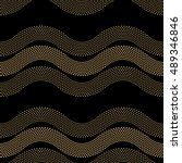 vector abstract seamless wavy... | Shutterstock .eps vector #489346846