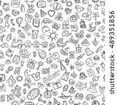 baby seamless pattern for your... | Shutterstock .eps vector #489351856