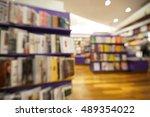 bookstore shelf defocused for... | Shutterstock . vector #489354022