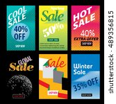 templates for web shopping or... | Shutterstock .eps vector #489356815