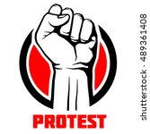 protest  rebel vector... | Shutterstock .eps vector #489361408