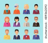 set of people characters avatar ... | Shutterstock .eps vector #489362092