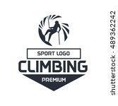 wall climbing  rock climbing ... | Shutterstock .eps vector #489362242