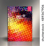 abstract halftone background.... | Shutterstock .eps vector #489367906