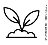 plant vector icon | Shutterstock .eps vector #489372112