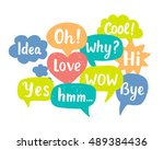 hand drawn colorful chat... | Shutterstock .eps vector #489384436