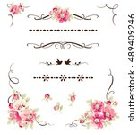 set of decorative calligraphic... | Shutterstock .eps vector #489409246