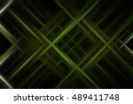 abstract green fractal... | Shutterstock . vector #489411748